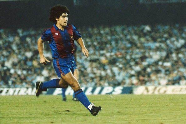Maradona al Barcellona, scarpe Puma King