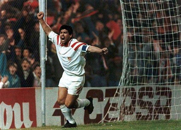 Maradona al Siviglia, scarpe Puma King