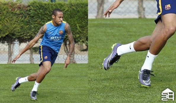 Neymar allenamento con le Vapor camuffate da Hypervenom
