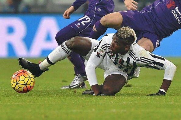 Paul Pogba con le adidas ACE16 in Juventus-Fiorentina