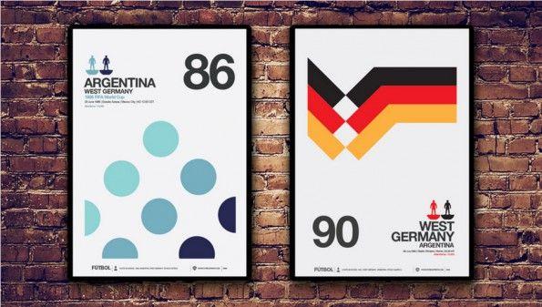 Poster Messico 1986 Italia 1990