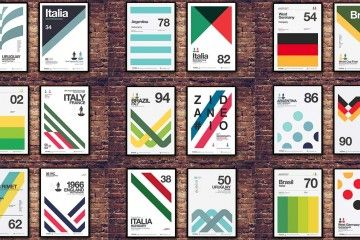 Design, poster dedicati ai Mondiali