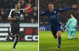 Vardy e Mahrez del Leicester