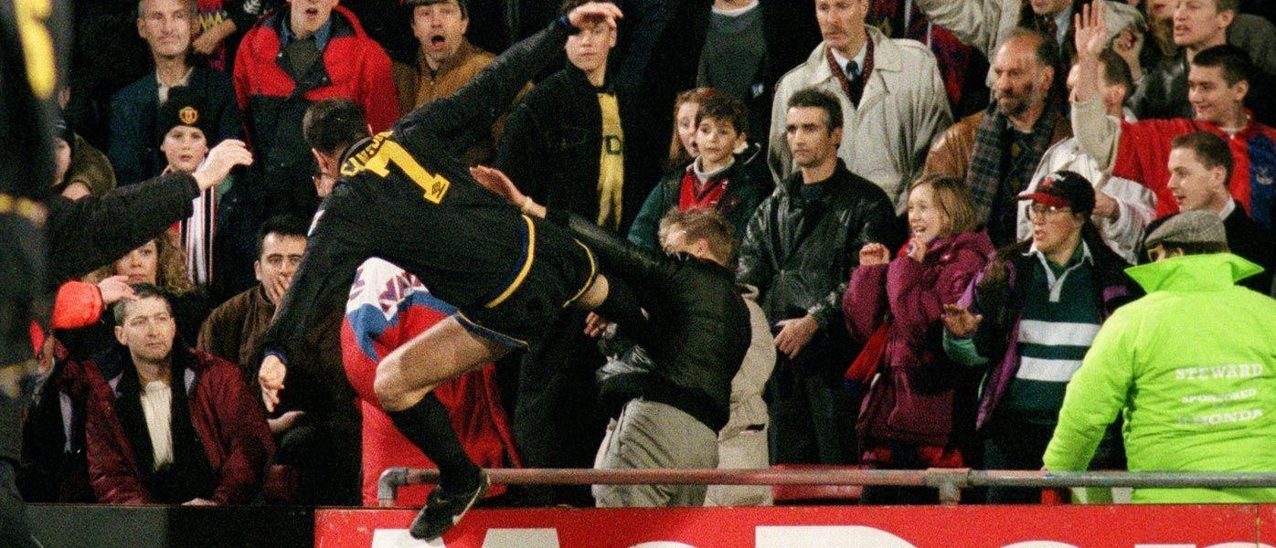 Eric Cantona, calcio volante