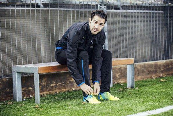 Fabregas con le nuove evoPower 1.3 Puma