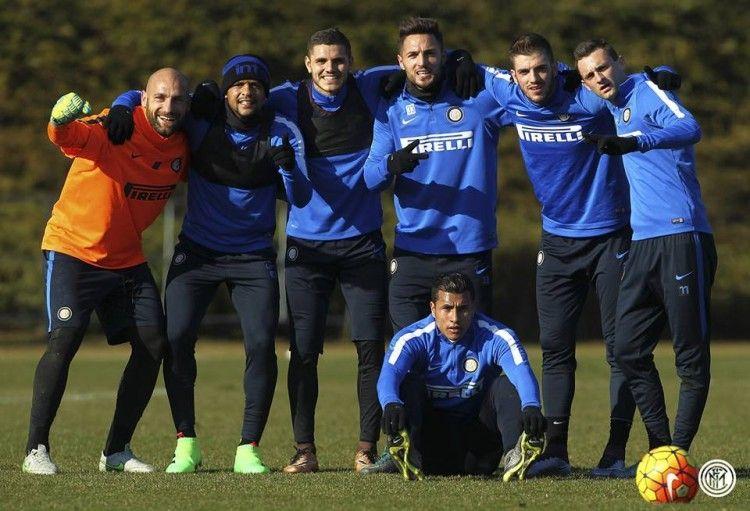 Allenamento Inter, Felipe Melo con le ACE16 Laceless