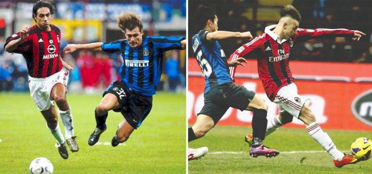 Maglie Milan 2003-04 e 2012-2013