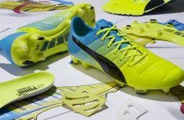 Scarpe evoPower 1.3 Puma gialle e blu
