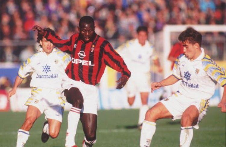 Weah in Parma-Milan 1995-96