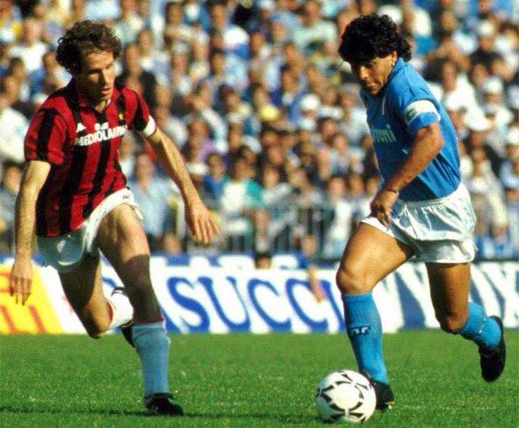 Baresi e Maradona, Napoli-Milan