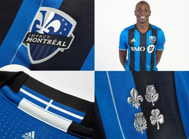 I fregi sulla maglia dell'Impact Montréal 2016