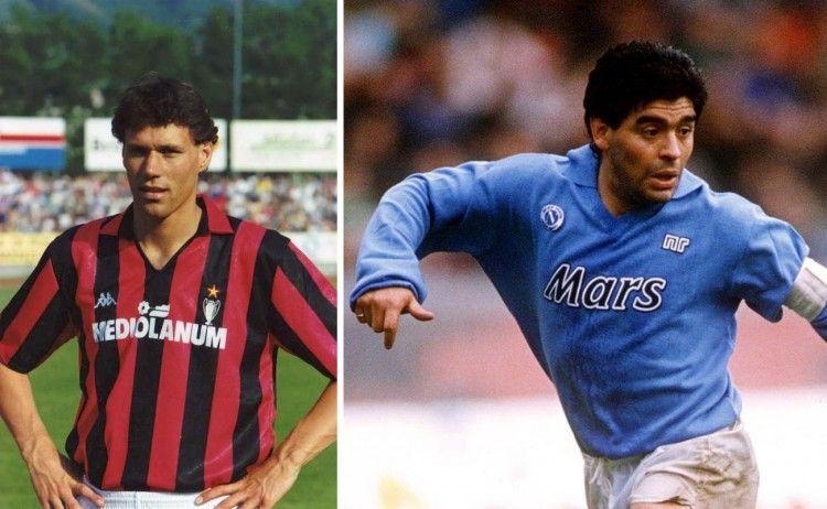 Van Basten e Maradona 1989-1990