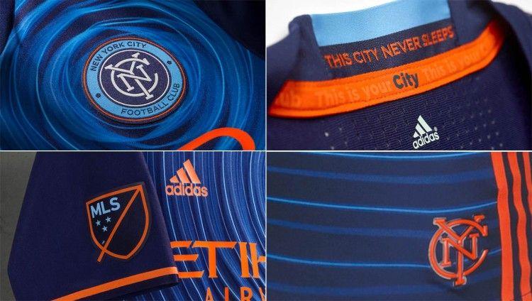 Dettagli maglia away New York City 2016