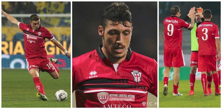 Pro Vercelli seconda maglia 2015-2016
