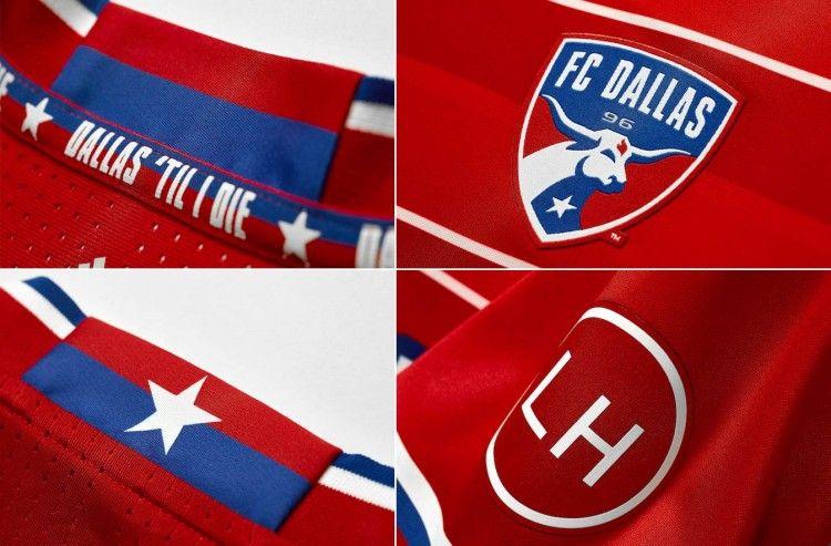 Dettagli prima maglia Dallas FC 2016