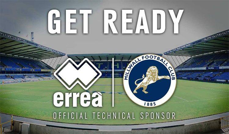 Erreà sponsor tecnico Millwall FC
