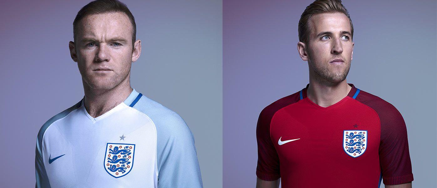 Rooney e Kane, maglie Inghilterra 2016-2017