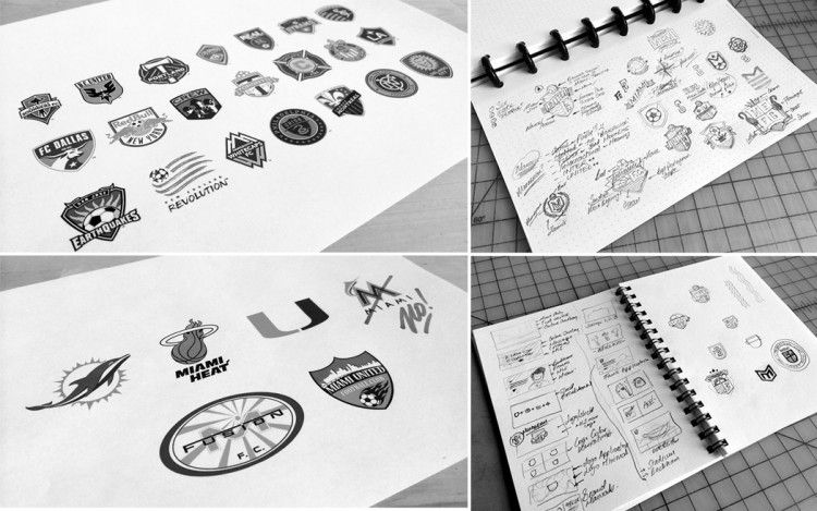 Inter Miami Logo Sketches MLS