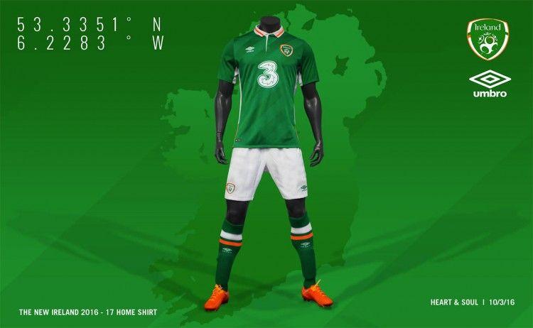 Divisa Irlanda EURO 2016 home