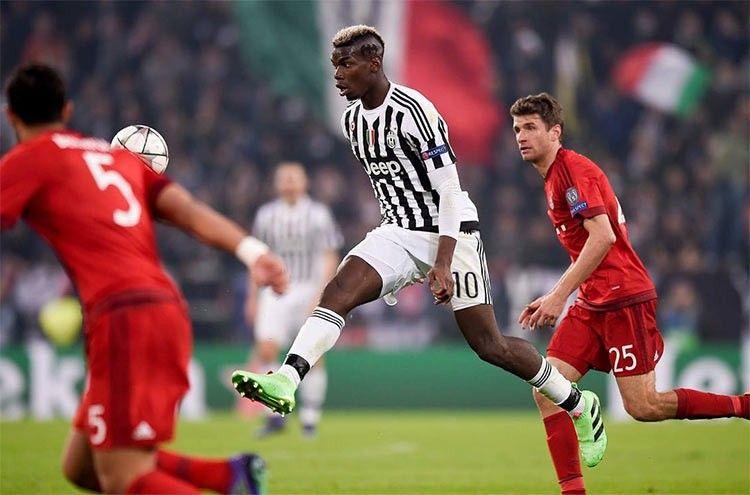 Paul Pogba in Juventus-Bayern Monaco