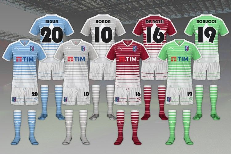 Maglie sfida traversa - All-Star Game Serie A