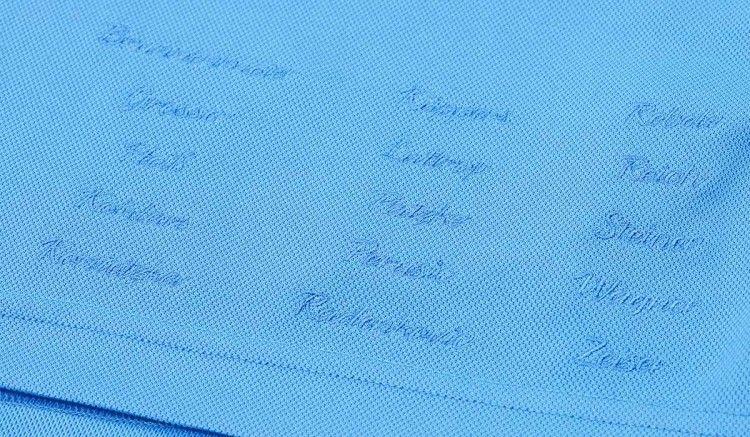 Ricami giocatori Monaco 1860, maglia celebrativa Macron