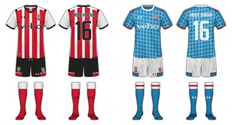 Kit design Southampton Under Armour