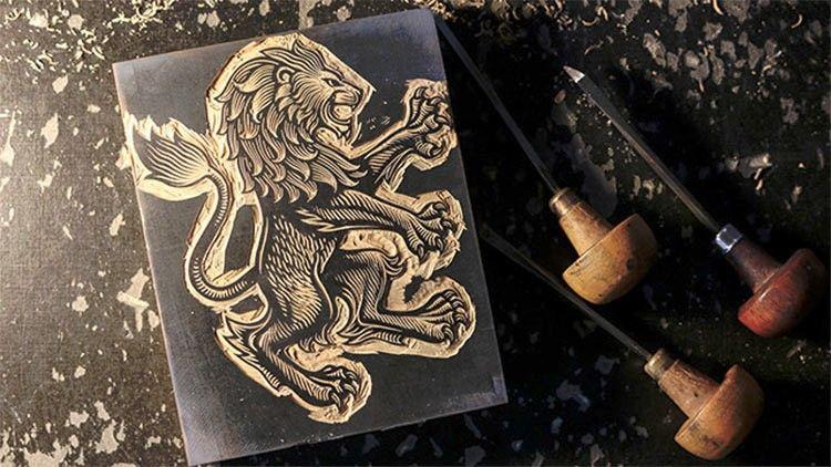 Il leone disegnato da Christopher Wormell