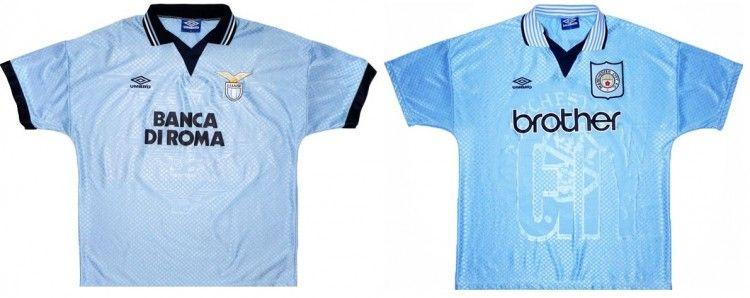 Maglie Lazio e Manchester City 1995-1997