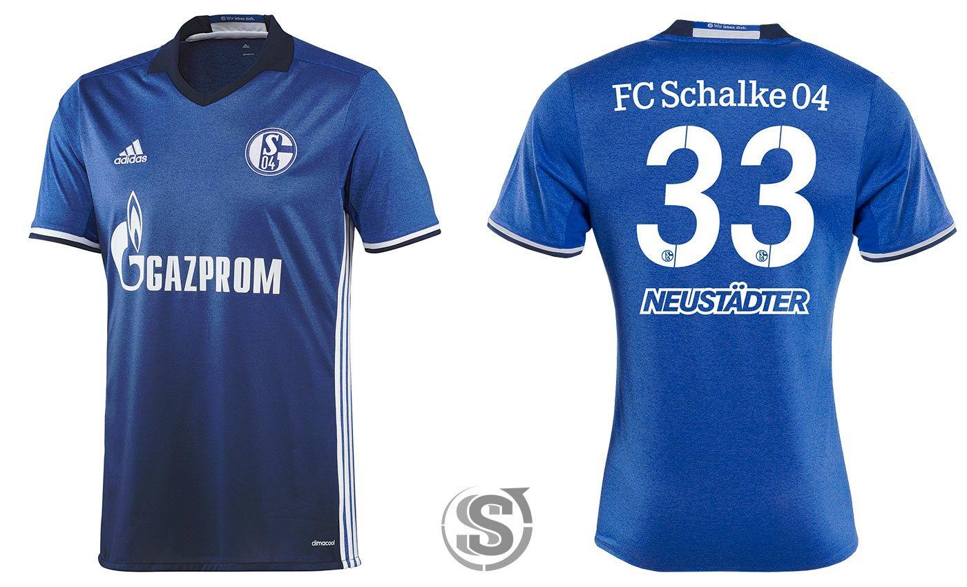 Maglia Schalke 04 2016-2017, effetto melange di adidas