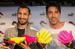 Buffon e Chiellini a Firenze per la collezione evoPower Tricks