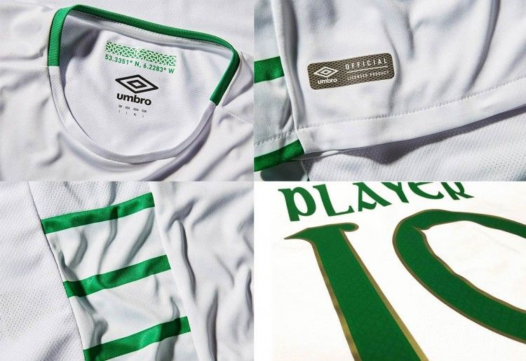 Dettagli maglia away Irlanda 2016