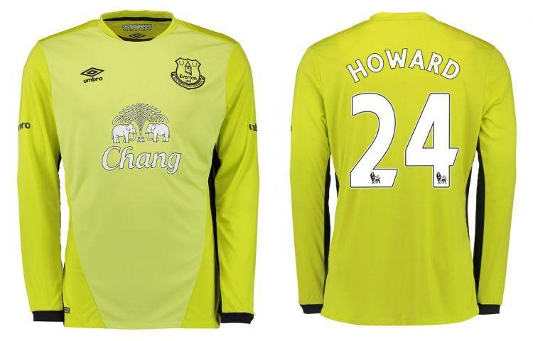 Maglia Everton portiere gialla 2016-2017