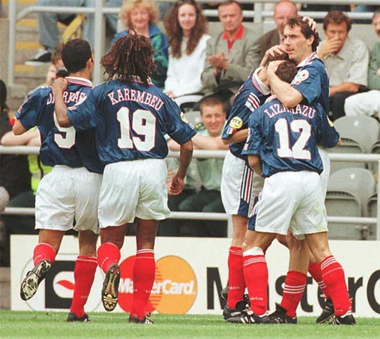 La divisa della Francia a Euro 1996