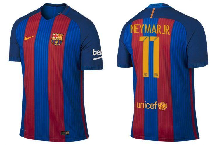 Maglia Barcellona 2016-2017 Neymar