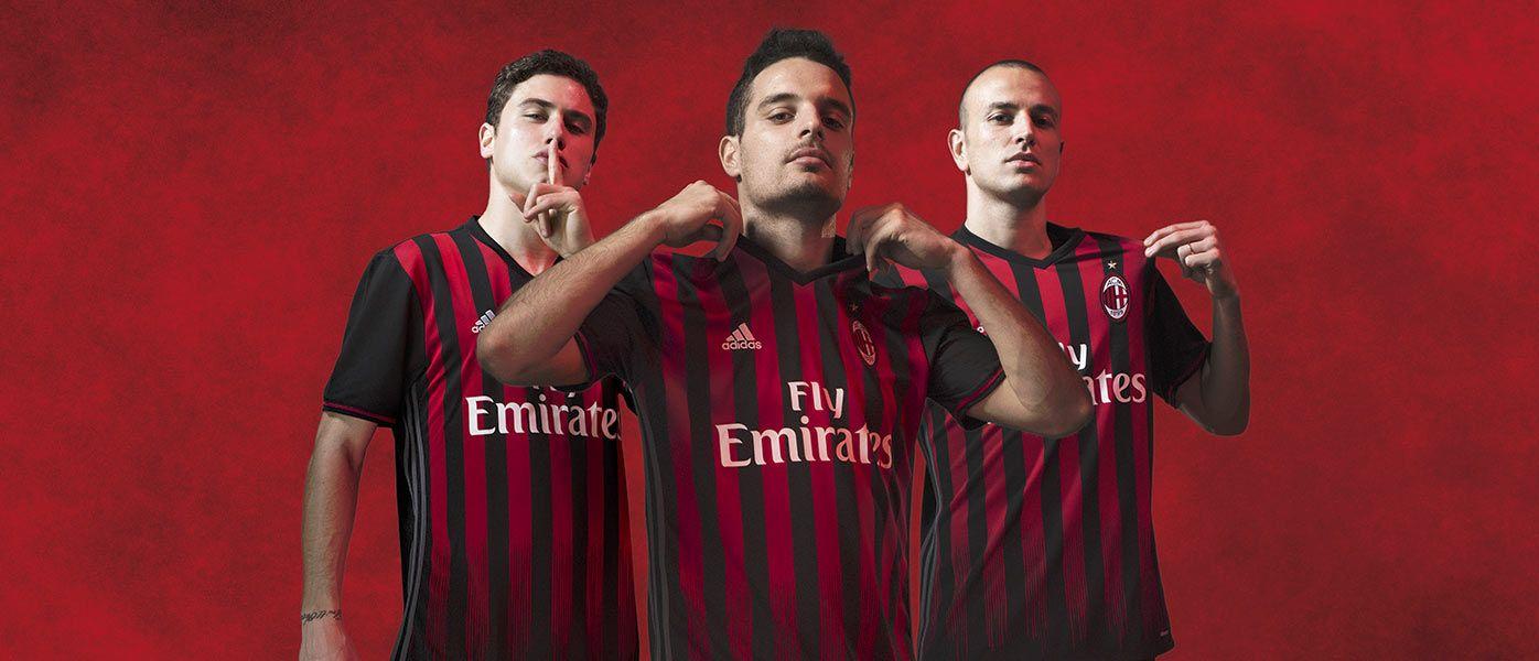 Presentazione maglia Milan 2016-17. Calabria, Antonelli e Bonaventura