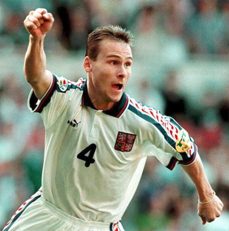 Pavel Nedved in Italia-Repubblica Ceca 1996