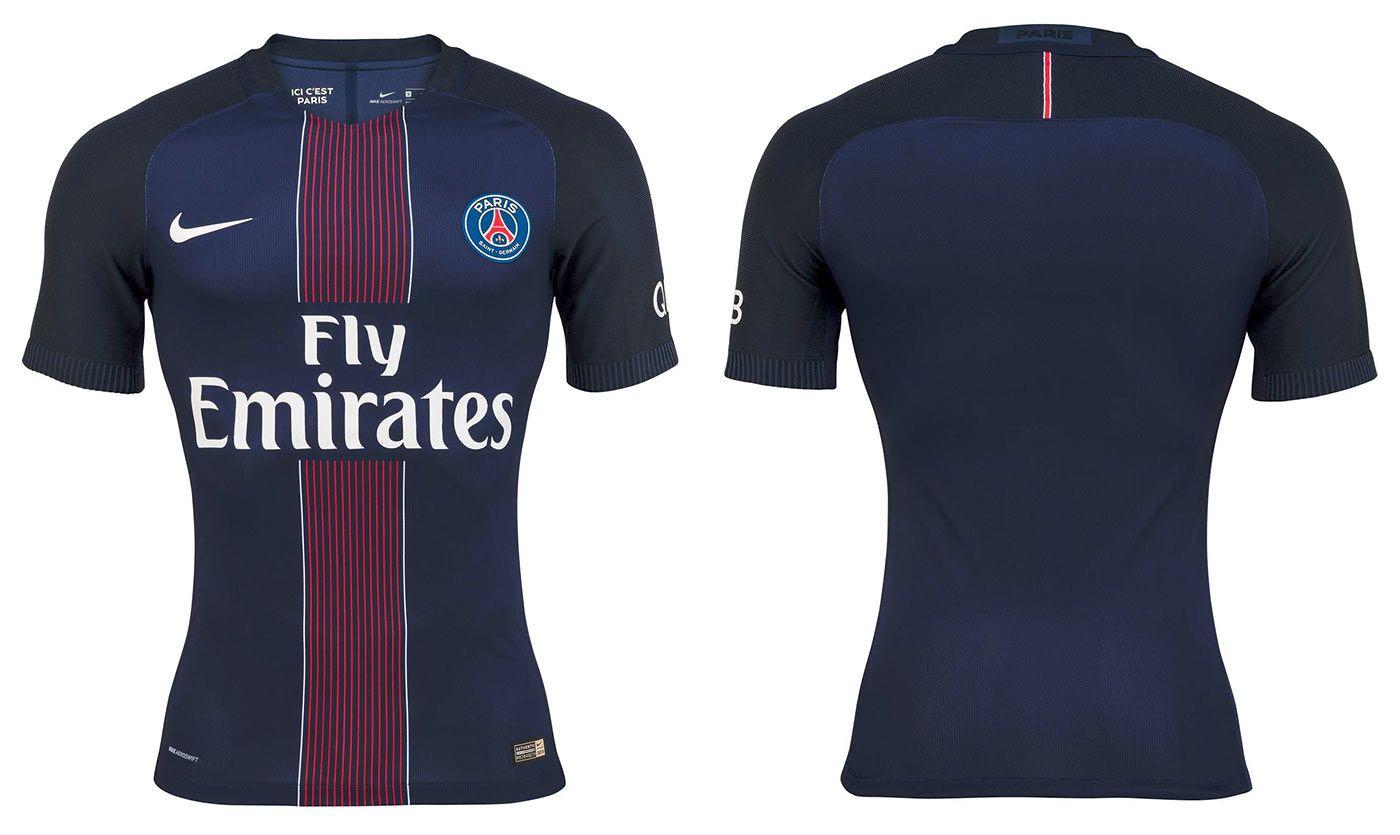 Maglia Paris Saint-Germain 2016-2017, Nike sceglie le pinstripes