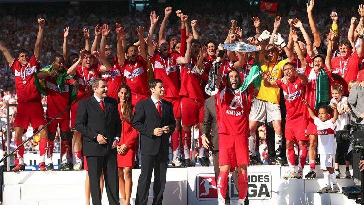 La festa dello Stoccarda per il titolo 2006-2007