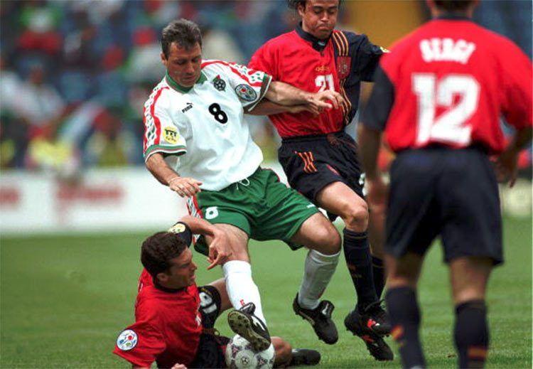 Hristo Stoitchkov in Bulgaria-Spagna 1996