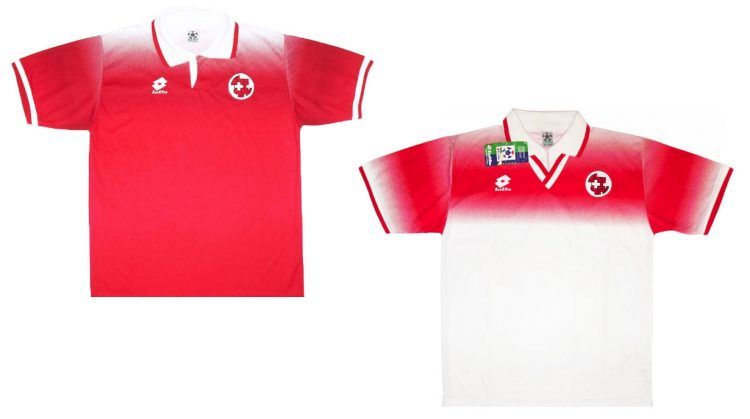 Maglie Svizzera Europei 1996 Lotto