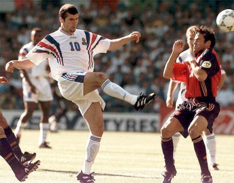 Zidane agli Europei 1996 con la Francia