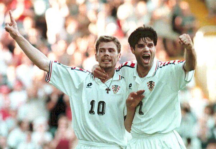 Boban e Jurcevic, seconda maglia Croazia 1996