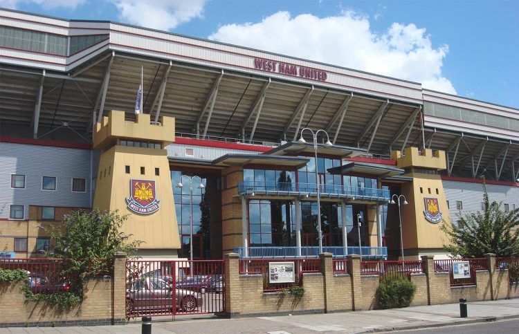 Boleyn Ground facciata stadio West Ham