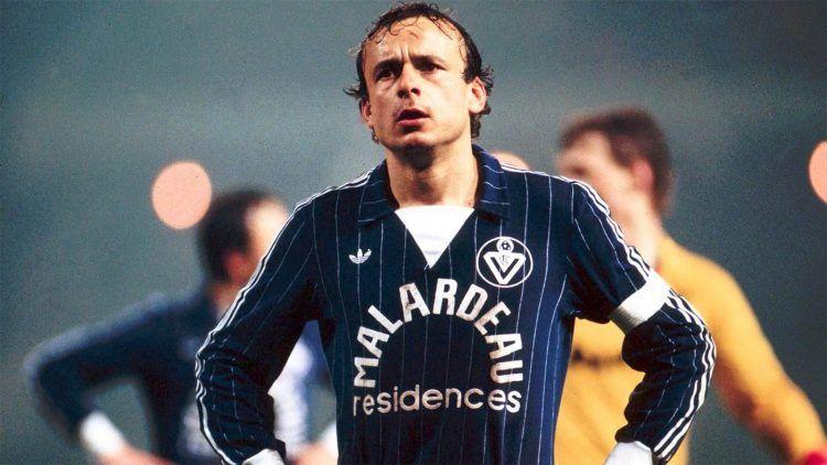 Gernot Rohr maglia Bordeaux primi anni '80