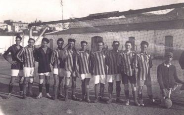 Cagliari 1924 maglia rossoblù a strisce strette