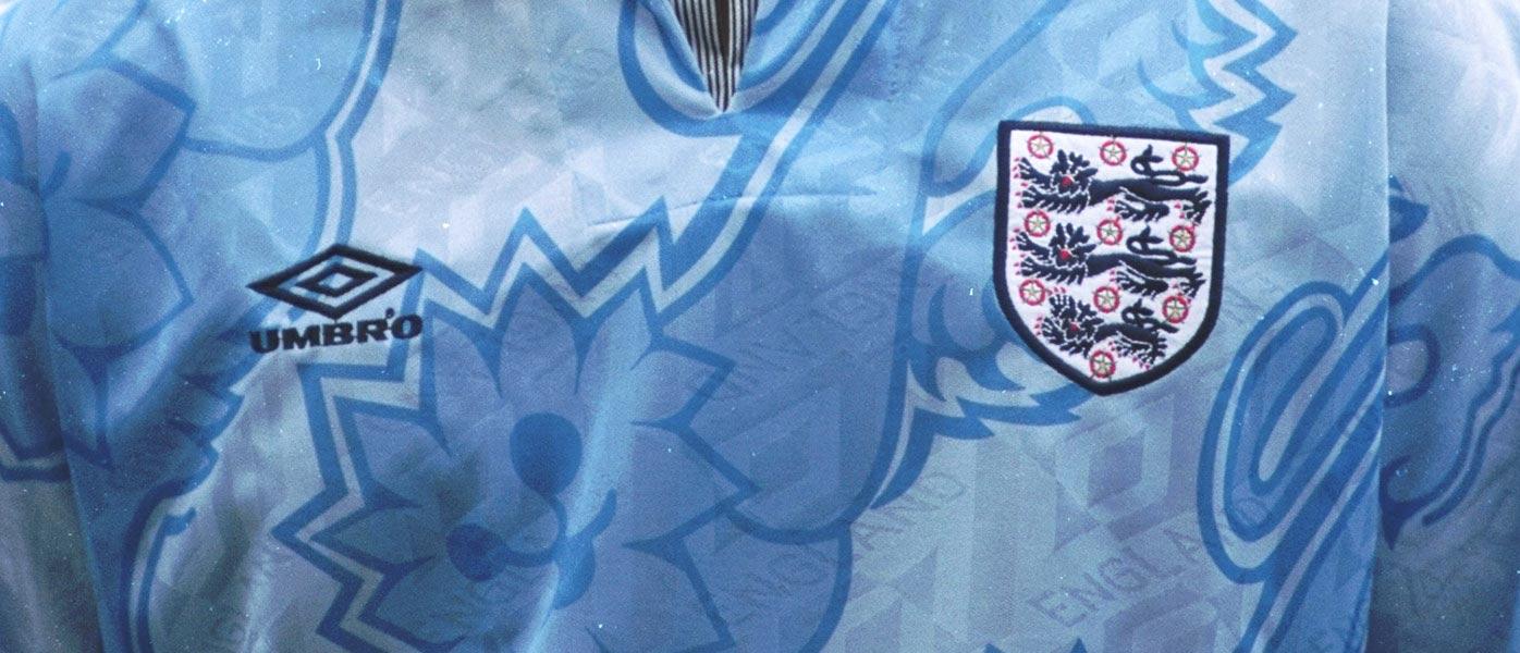 Dettagli terza maglia Inghilterra 1992-93