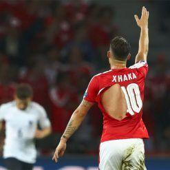 Maglia Svizzera Xhaka strappata Euro 2016