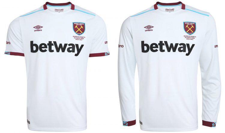Seconda maglia West Ham 2016-17