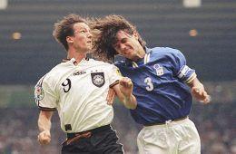 Maldini e Bobic, Italia-Germania Euro 1996